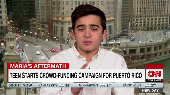 Teen delivers hundreds of solar lamps to Puerto Ricans without power