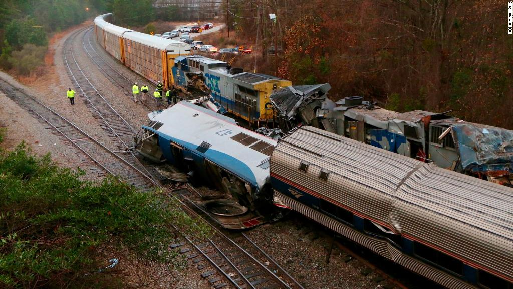 Two dead after Amtrak train collision