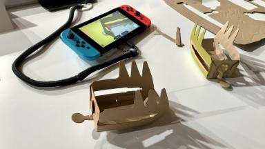 Nintendo Switch cardboard toys bring 'screen time' to physical world