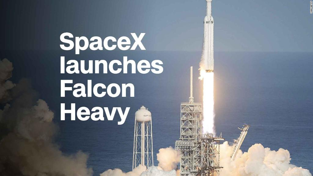 SpaceX's Falcon Havy launch produced some stunning images