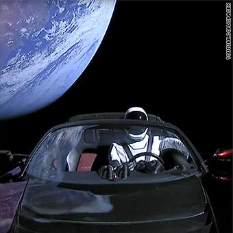 Flying Tesla Car In Space - tesla power 2020