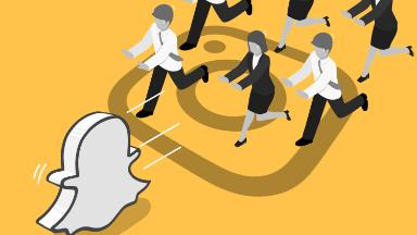 Snapchat is fighting Instagram for celebrity users