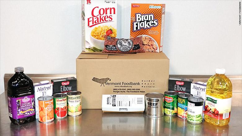 vermont foodbank food box