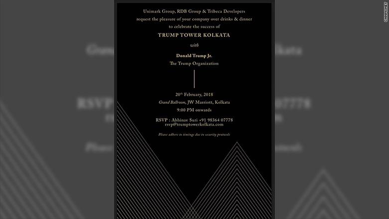 trump tower kolkata invite