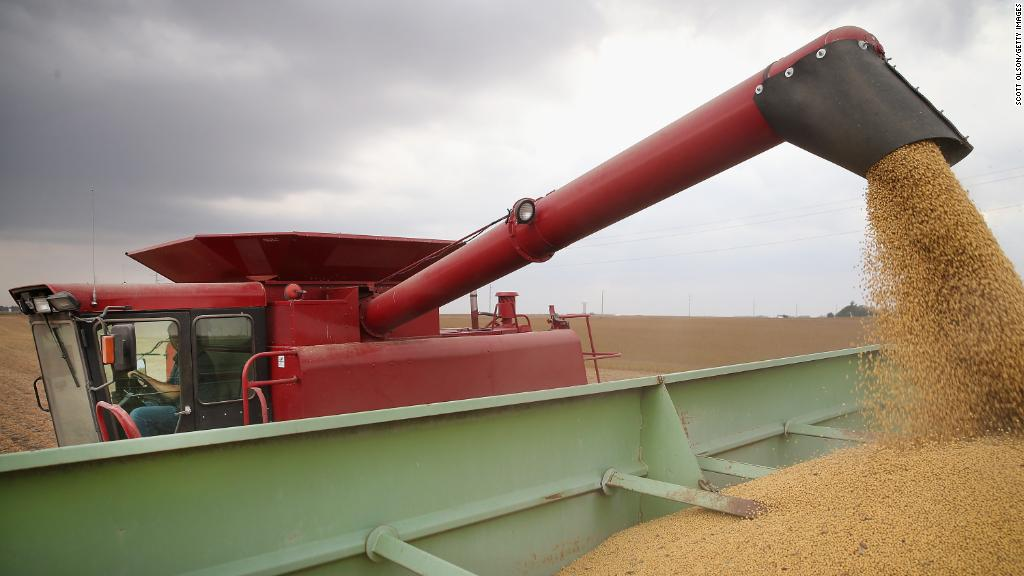 China is hitting the US where it hurts soybeans