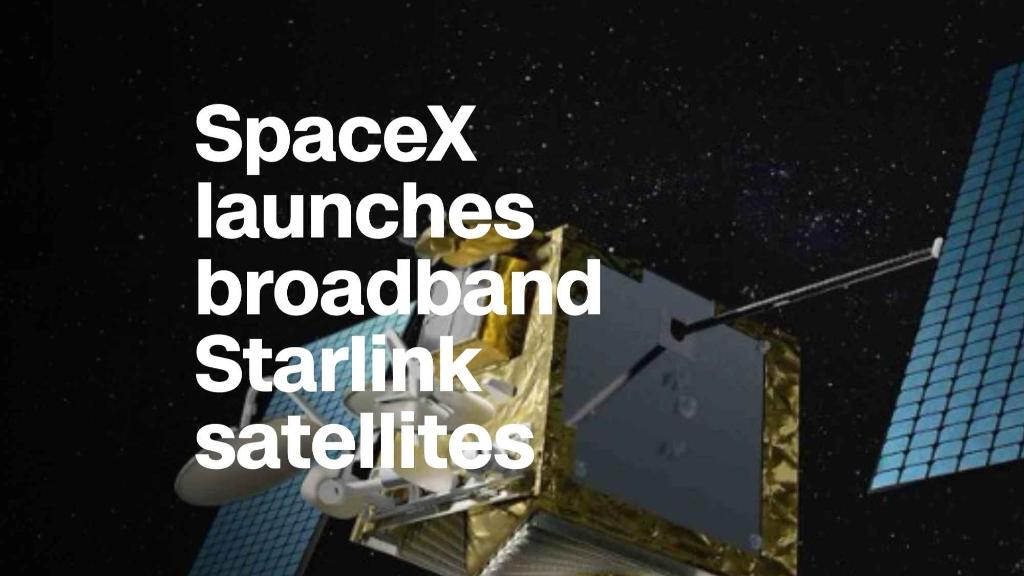 SpaceX launches broadband Starlink satellites