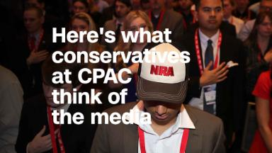 Here's what young conservatives at CPAC think of the media
