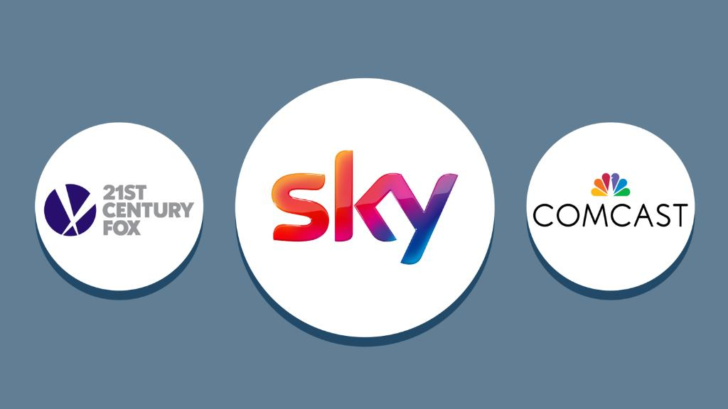 Comcast increases Sky offer to £14.75 per share