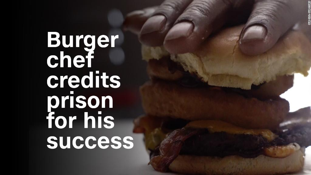Burger chef credits prison for his success