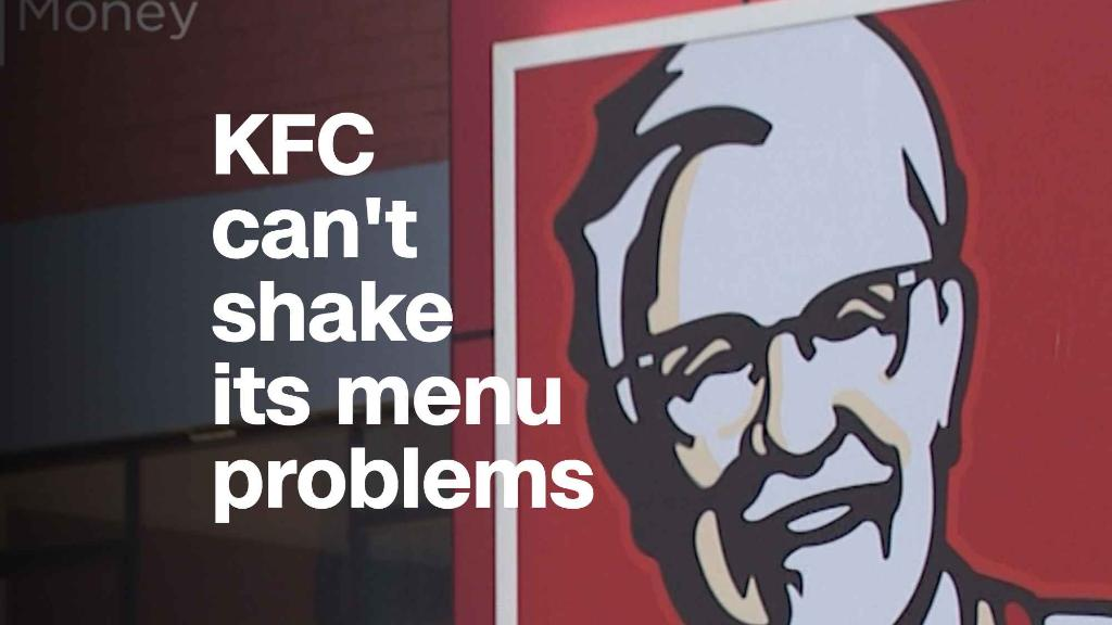 KFC can't shake its menu problems in the UK