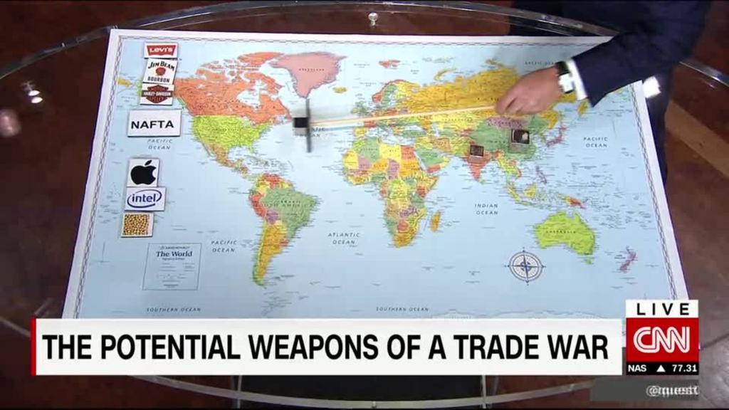 The potential weapons for a trade war