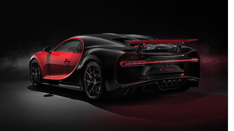 bugatti chiron sport rear corner