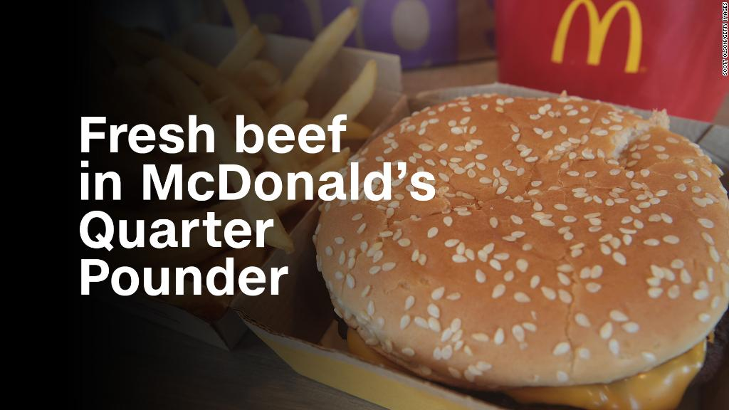 McDonald's is putting fresh beef in the Quarter Pounder