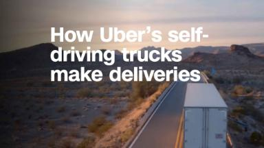 Here's how Uber's self-driving trucks make deliveries