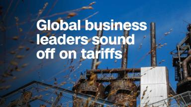 Global business leaders sound off on tariffs