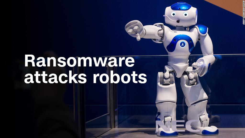 Watch this robot get attacked by ransomware