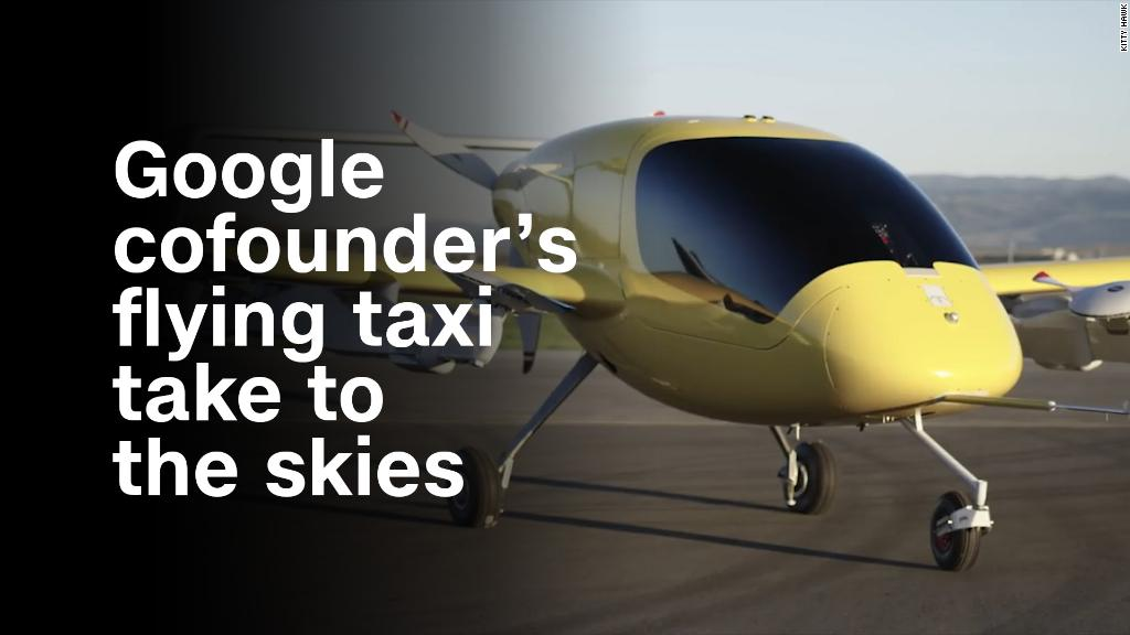 See Google cofounder's flying taxi take to the skies