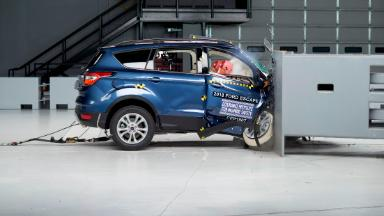 Watch the Ford Escape fail a passenger crash test