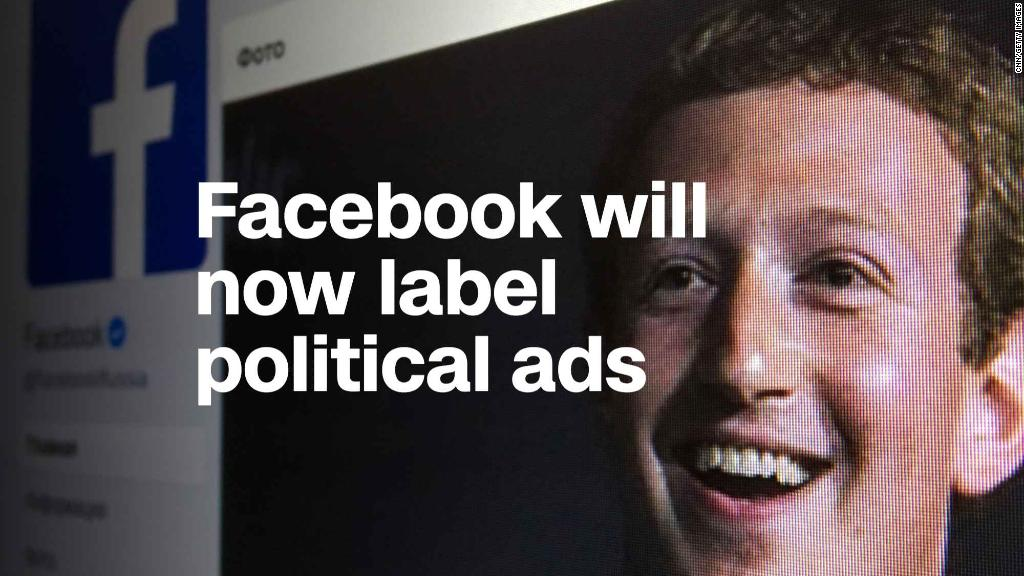 Facebook will now clearly label political ads