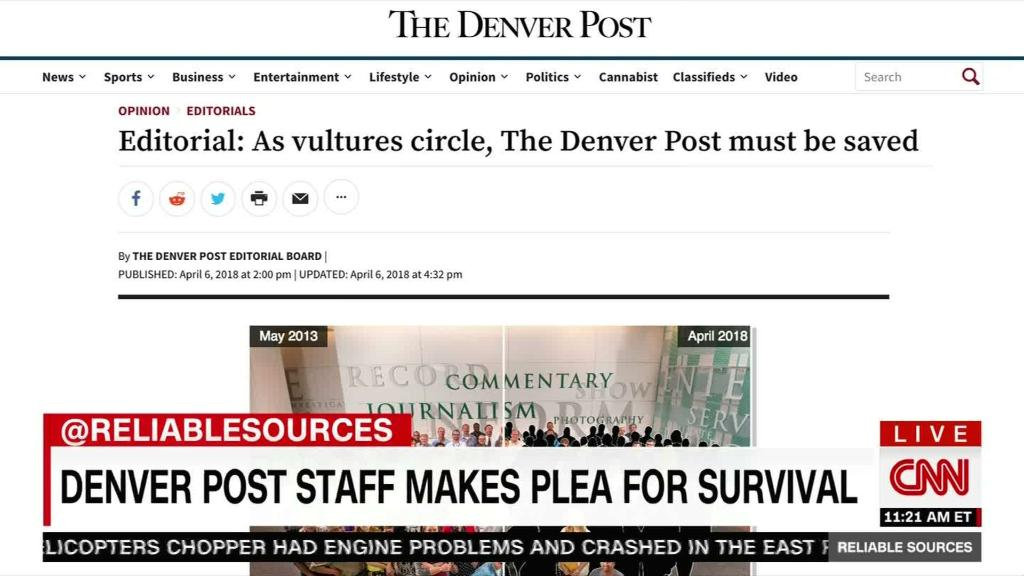 A local news SOS from the Denver Post