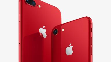 Apple unveils red iPhone 8