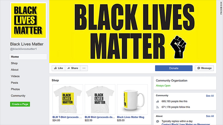 black lives matter facebook fake 2