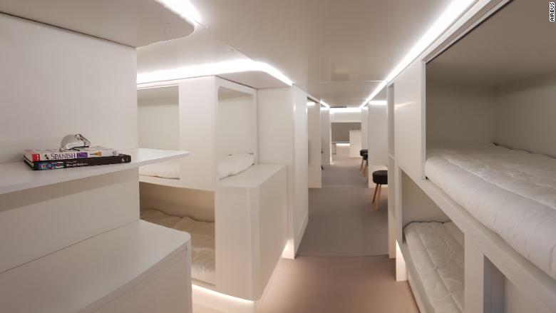 Would you sleep in an Airbus cargo hold?