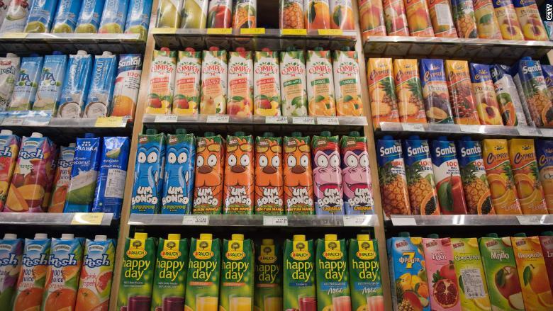 juice aisle