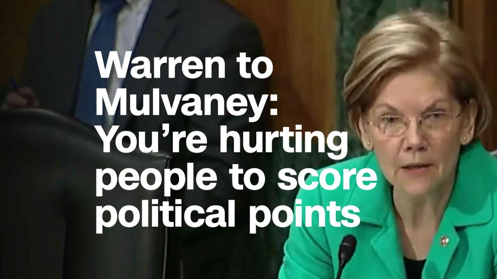 Warren to Mulvaney: You're hurting people to score political points