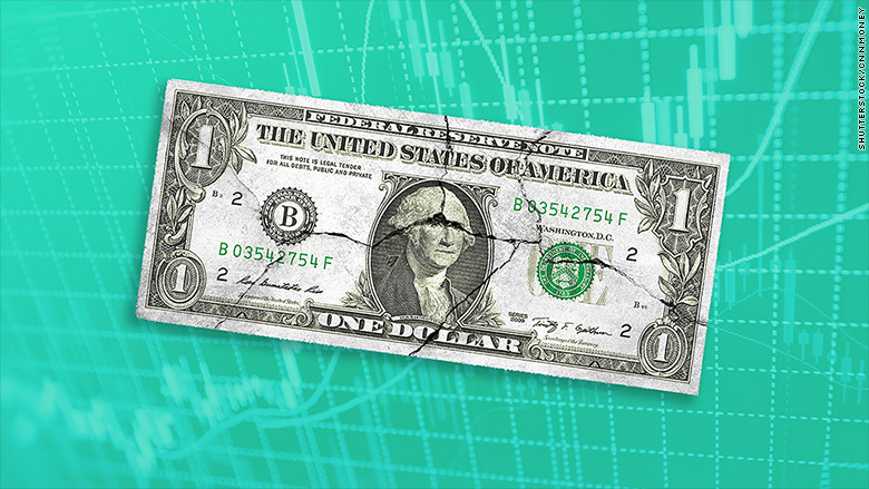 the dollar is sliding -- and that's great for corporate america