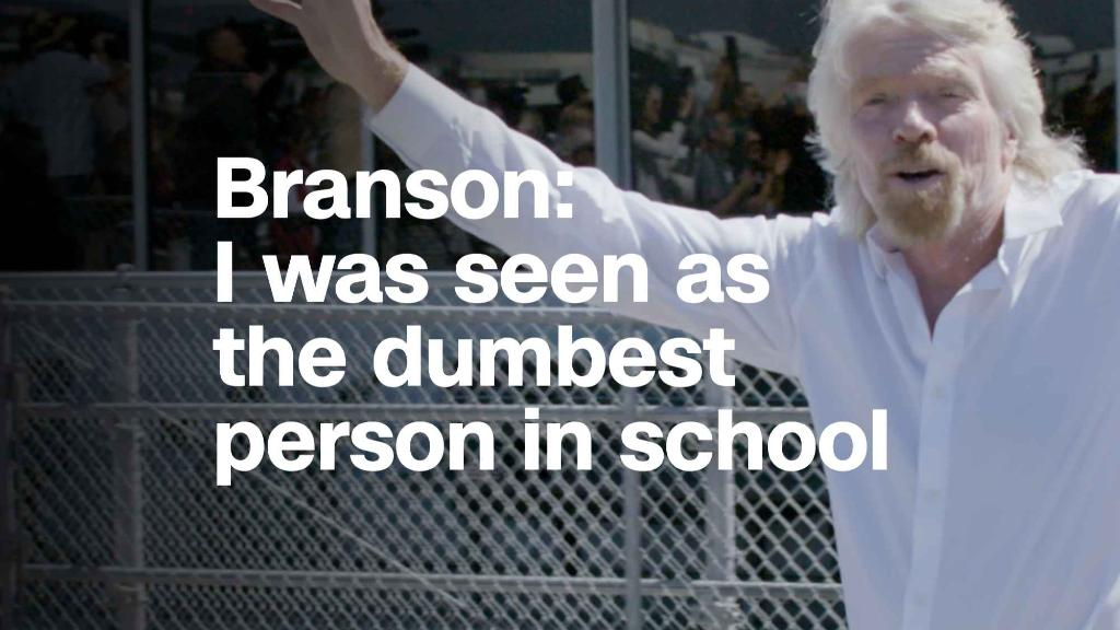 Branson: I was seen as the dumbest person in school