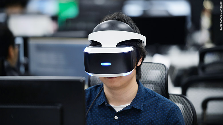 vr headset at work