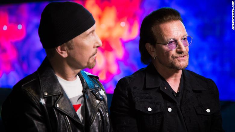 U2 Bono and Edge Laurie Segall INTV 3