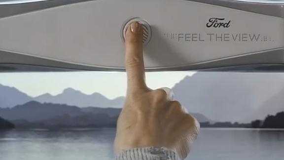 Ford showcases smart window that allows blind to 'feel' the view