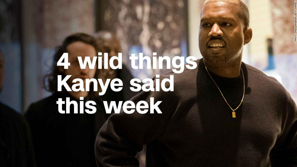 4 wild things Kanye said this week