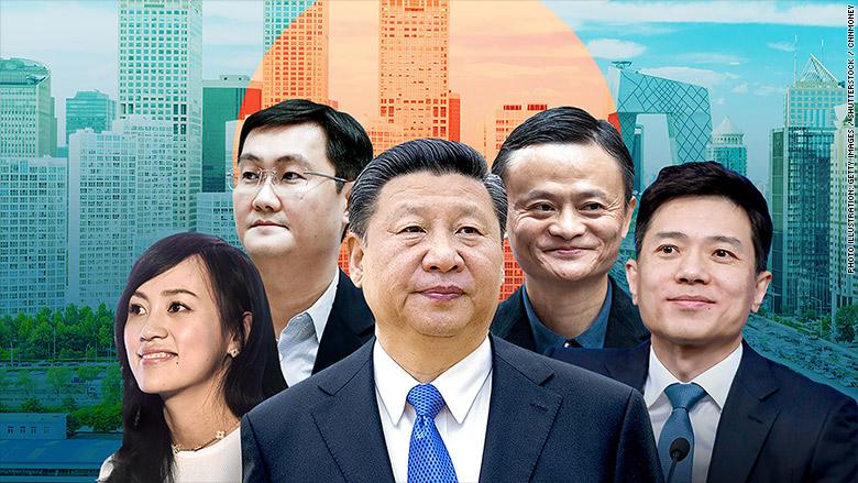 pacific china tech xi jinping jack ma pony ma robin li liu qing alibaba tenecent baidu didi chuxing beijing newsletter