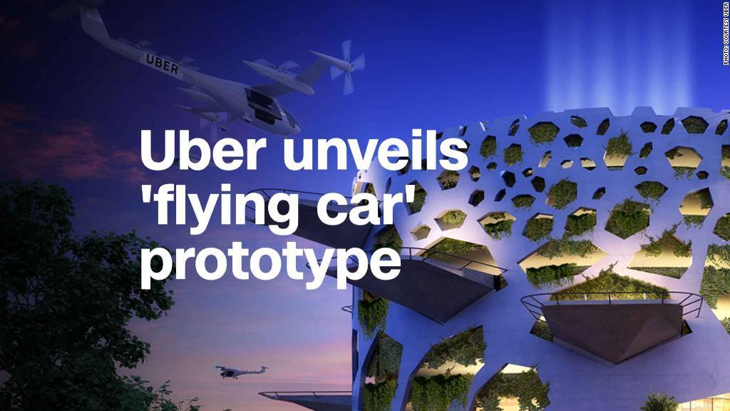 Uber unveils flying car prototype