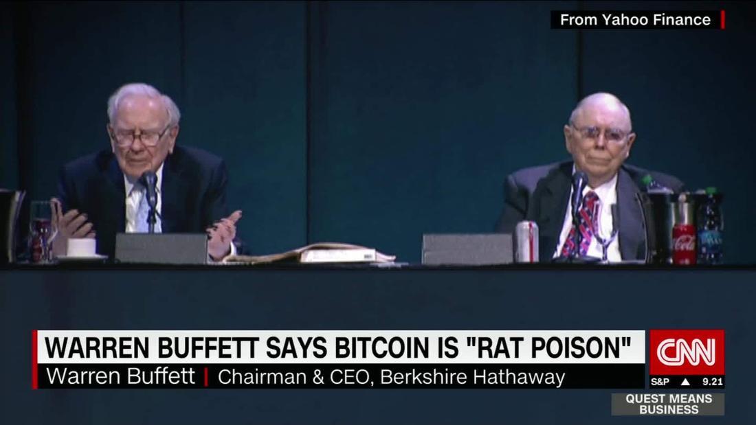 Buffett cree que bitcoin es veneno de rata