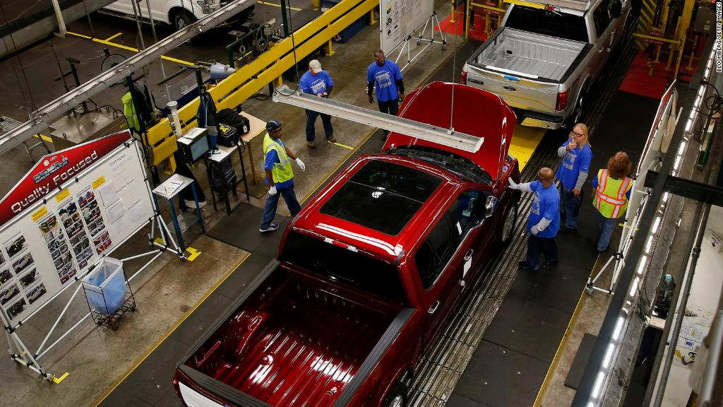 Ford stops production of F-150 trucks