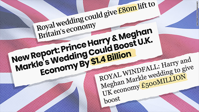 royal wedding economy headlines