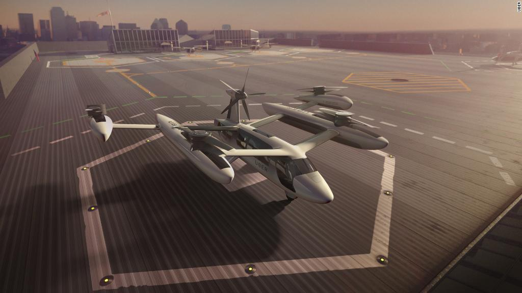 Uber planning flying taxis for 2023