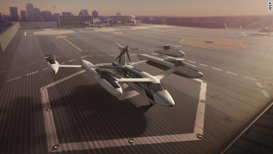 Uber invests millions to build flying taxis in France