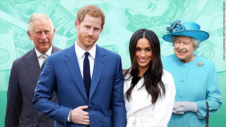 royal wedding who pays prince harry queen elizabeth meghan markle