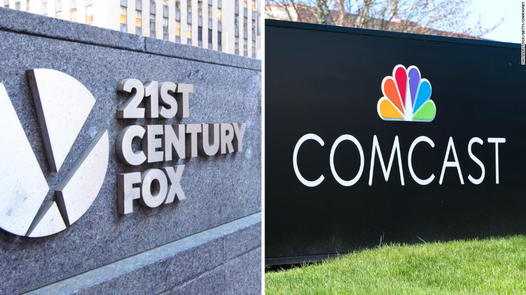 Comcast closing in on plan to challenge Disney's Fox bid