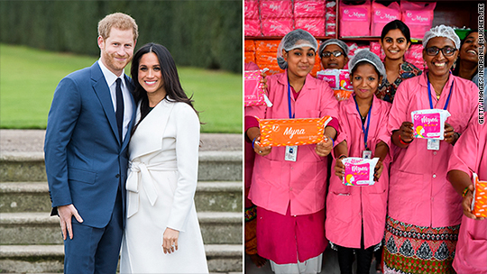 Harry and Meghan: Don't send gifts, buy sanitary pads