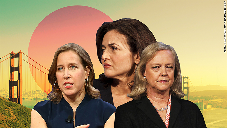 pacific women in tech Sheryl Sandberg Susan Wojcicki Meg Whitman