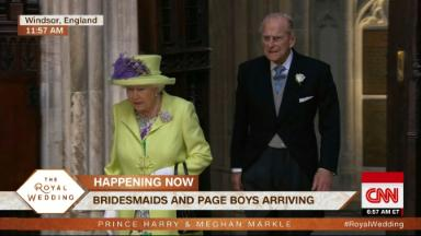 The Queen arrives to the royal wedding
