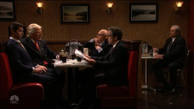 'SNL' turns Donald Trump into Tony Soprano for season finale