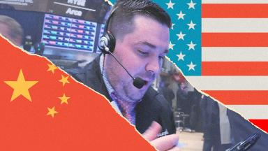 Dow soars 350 points as US-China trade tensions cool