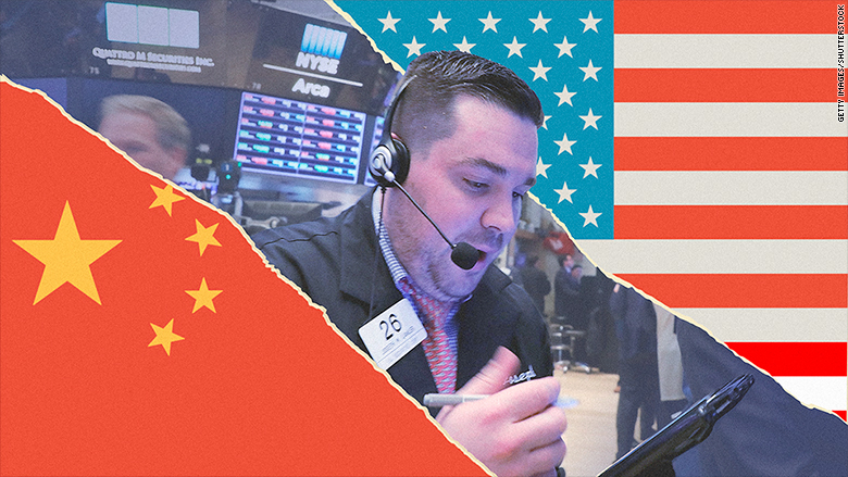 Stocks pop as US-China trade tensions cool